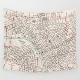 Vintage Map of Nashville Tennessee (1901) Wall Tapestry