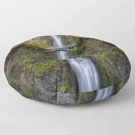 Multnomah Falls in Early Fall Floor Pillow