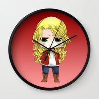 ouat Wall Clocks featuring OUAT - Chibi Emma Swan by Yorlenisama