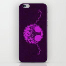 Vintage Floral Dazzling Violet iPhone Skin