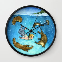Thomas and the Otters Wall Clock