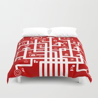 medicine Duvet Covers featuring Arrow medicine by aleksander1