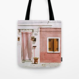 Sunny pink house Tote Bag