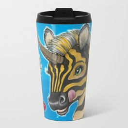 Goodnight Unicorn Zebra Metal Travel Mug