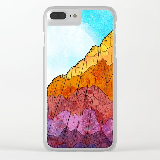 The Tall Cliff Clear iPhone Case
