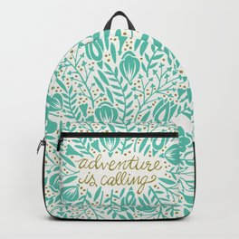 Adventure is Calling – Turquoise & Gold Palette Backpack