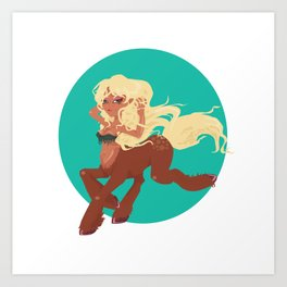 Sexy Centauress Art Print