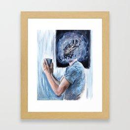 Mourning Window Framed Art Print