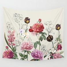Flowers illustraion Wall Tapestry