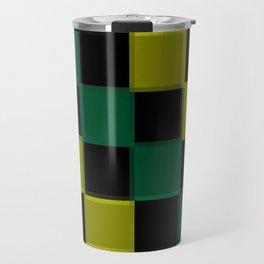 Green Checkerboard  Travel Mug