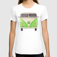 volkswagon T-shirts featuring VW Type 2 by One Curious Chip