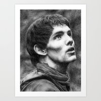 merlin Art Prints featuring Merlin by Lisa Buchfink