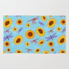 Sunflowers & Dragonflies Rug