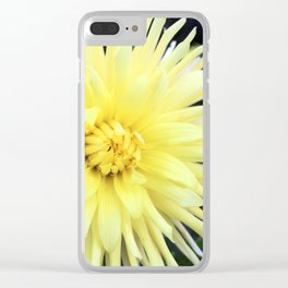 The Yellow Dahlias Clear iPhone Case