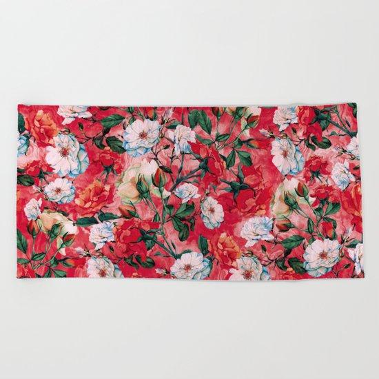 Rose Red Beach Towel