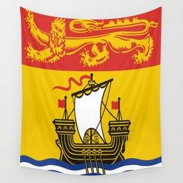 flag of New Brunswick 2 -Brunswicker,Néo-Brunswickois,moncton,fredericton,acadia,miramichi,john Wall Tapestry