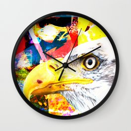 White Eagle Wall Clock