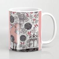 garden Mugs featuring Winter Garden by Judith Clay