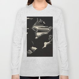 Félix Vallotton Wolken, 1890 Midnight Moon Night Clouds Long Sleeve T-shirt