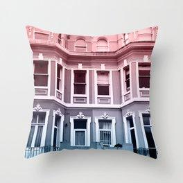 Houses in Portobello Throw Pillow