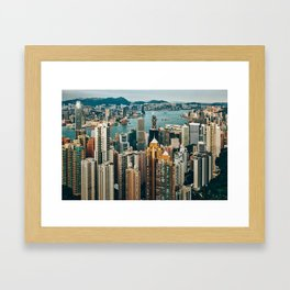 Golden Harbour Framed Art Print