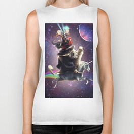 Cat Riding Chicken Turtle Panda Llama Unicorn Biker Tank