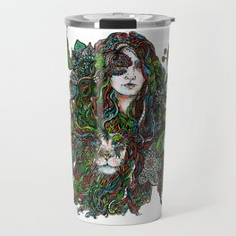 Lioness   by Fanitsa Petrou Travel Mug