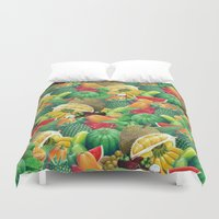 fruit Duvet Covers featuring Fruit by Christopher Forsman