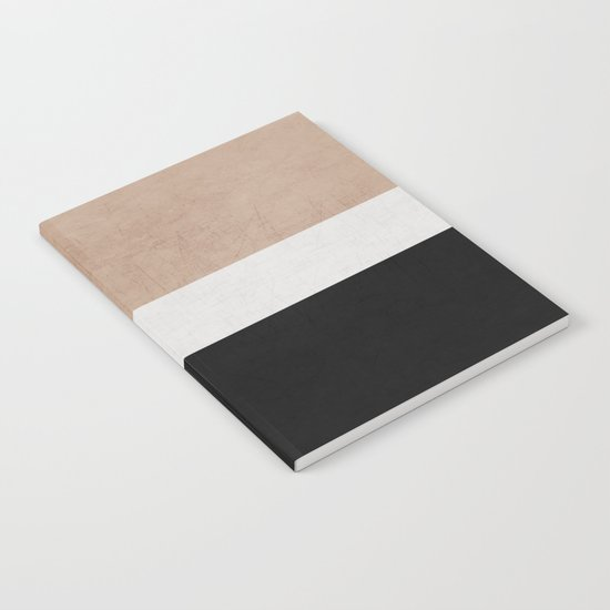 classic - natural, cream and black Notebook