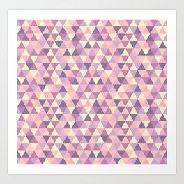 Pastel Pink Geometric Art Art Print