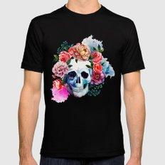 Flower Skull Mens Fitted Tee Black MEDIUM