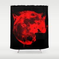 werewolf Shower Curtains featuring Werewolf by Badamg