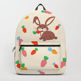 Cute Bunny and Carrots Backpack