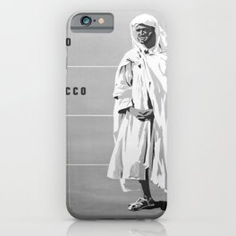 retro monochrome Fly to Morocco iPhone Case
