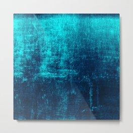 Sea Turquoise Paper Metal Print