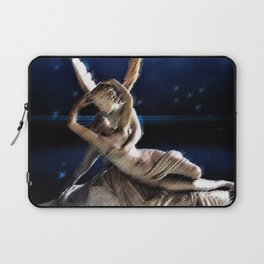 Psyche and Angel Amid the Stars Painting by Jéanpaul Ferro Laptop Sleeve