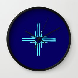 flag of new mexico hand drawn 3 inverted colors Wall Clock