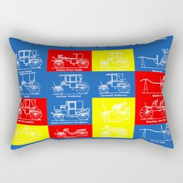 MODERN FASHIONABLE CARRIAGES AND VEHICLES IN GENERAL USE. II Rectangular Pillow