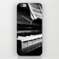 piano iPhone & iPod Skins featuring Piano by Monochrome by Juste Pixx