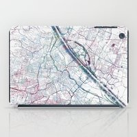 vienna iPad Cases featuring Vienna map by MapMapMaps.Watercolors