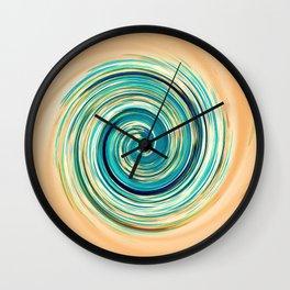 Ripple_Circle_Orange_Blue Wall Clock