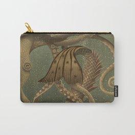 """Mermaid & Octopus No. 4"" by David Delamare (No Border) Carry-All Pouch"