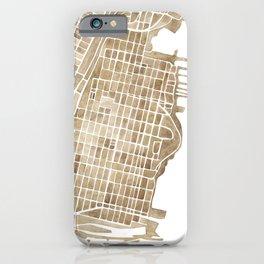Hoboken New Jersey city map iPhone Case