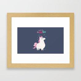 I was like Oh Em Gee - Unicorn Framed Art Print