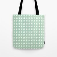 polka dots Tote Bags featuring polka dots by JesseRayus
