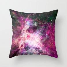 Pink purple nebula . Throw Pillow