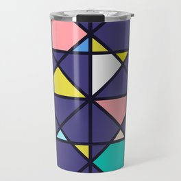 Geometric Architectural Design Kaleidoscope Colored Pattern Travel Mug