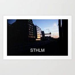 STHLM (with text) Art Print