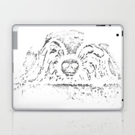 Black Headstone Laptop & iPad Skin