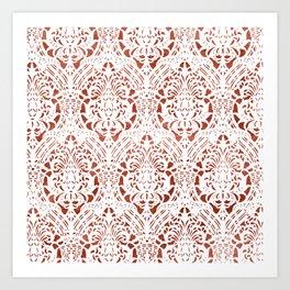 Sanguine Vintage Pattern Art Print